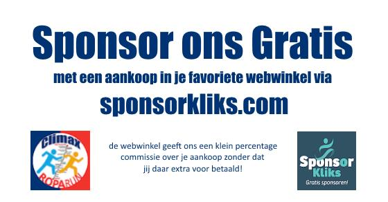 Gratis doneren via Sponsorkliks Team Climax