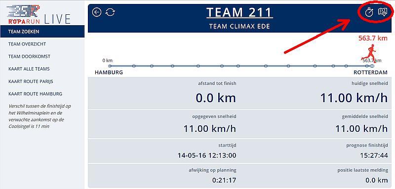 Volg Roparun Team Climax Ede live via de officiële Roparun Live website.