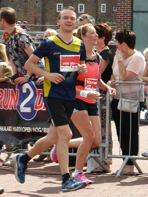 Paul Rotering liep de halve marathon in Amersfoort