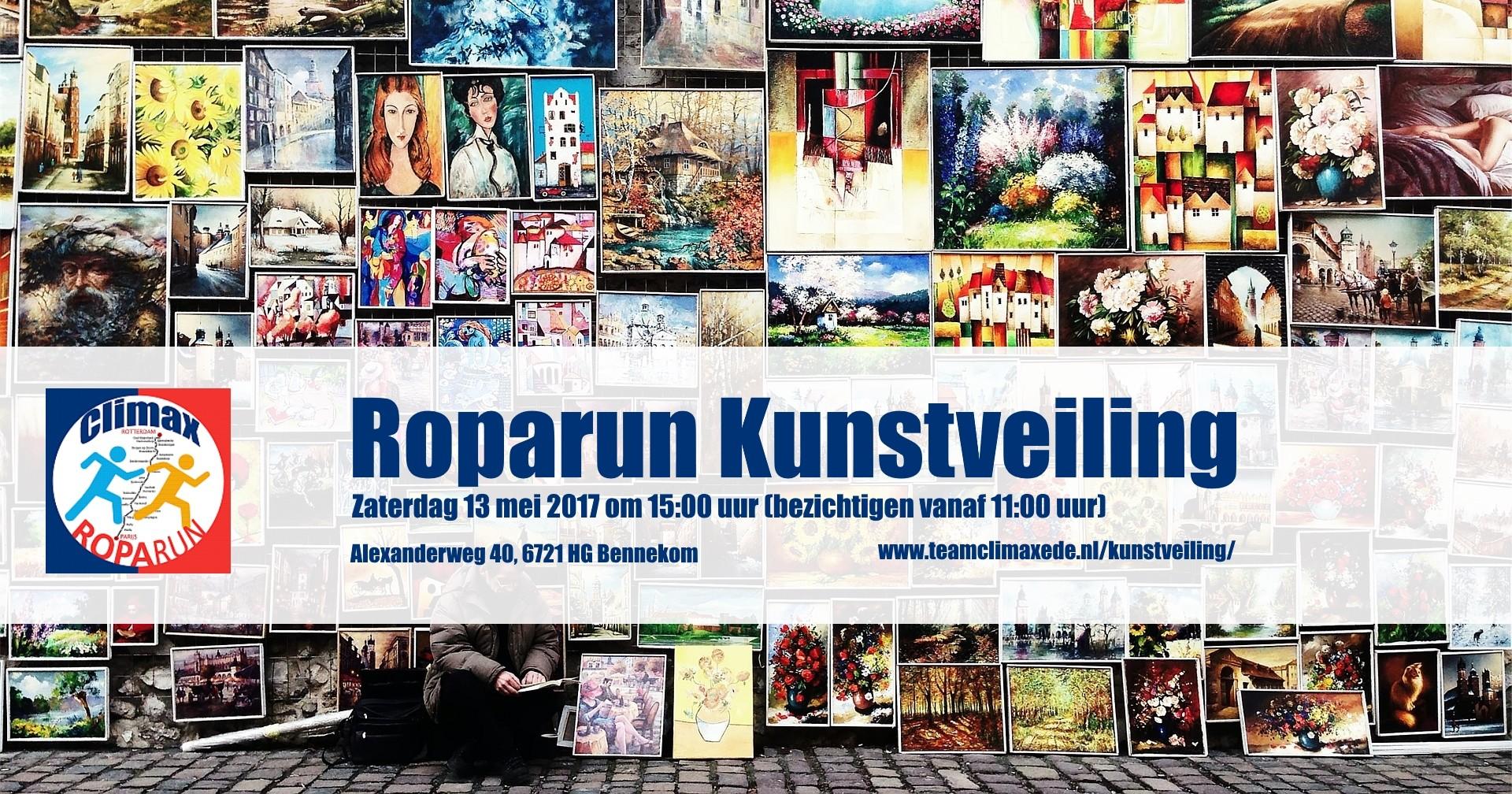 Kunstveiling voor de Roparun