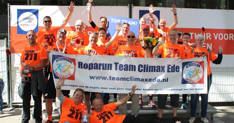 Roparun Team Climax Ede 2017 Team 211 finishfoto